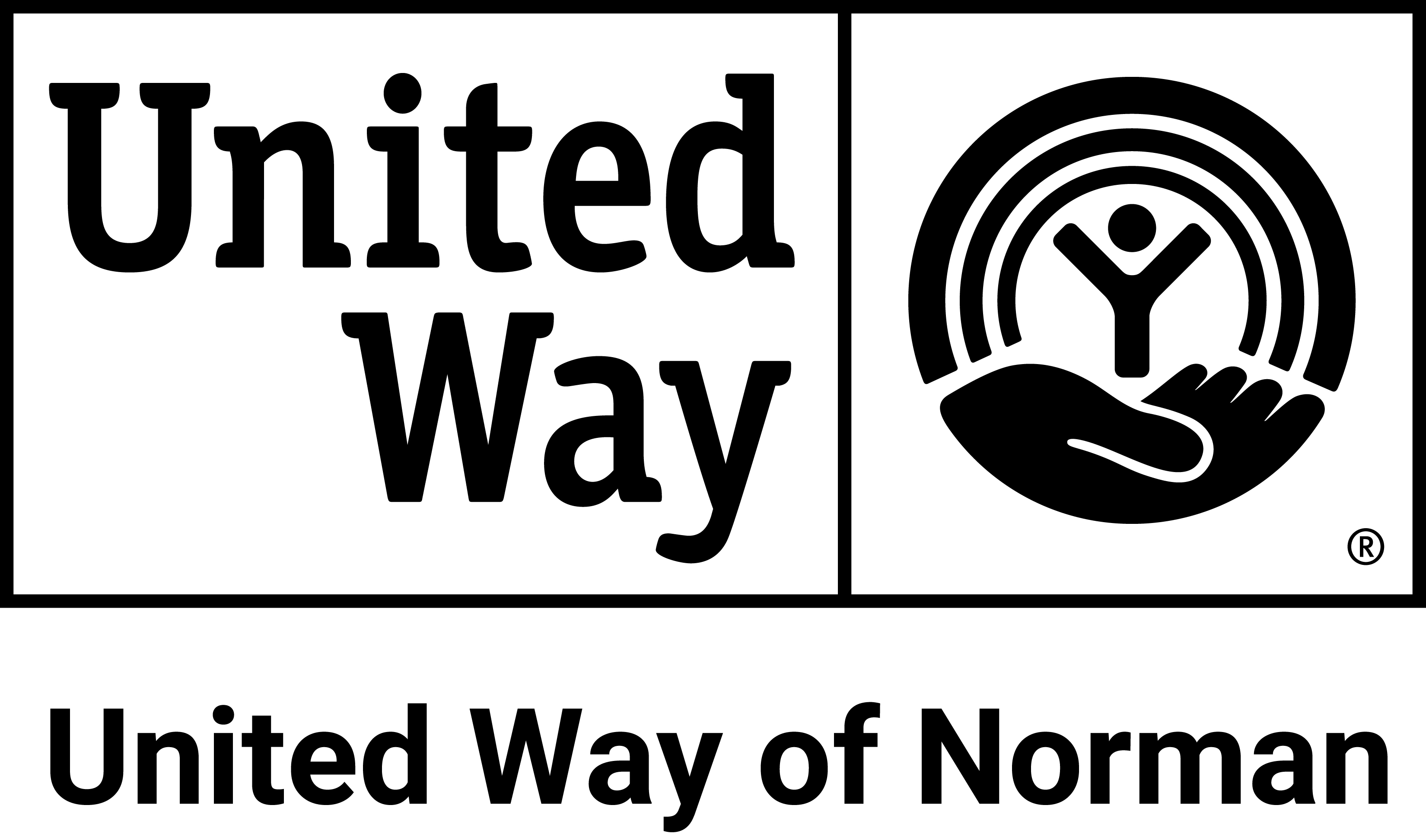 United Way of Norman logo black