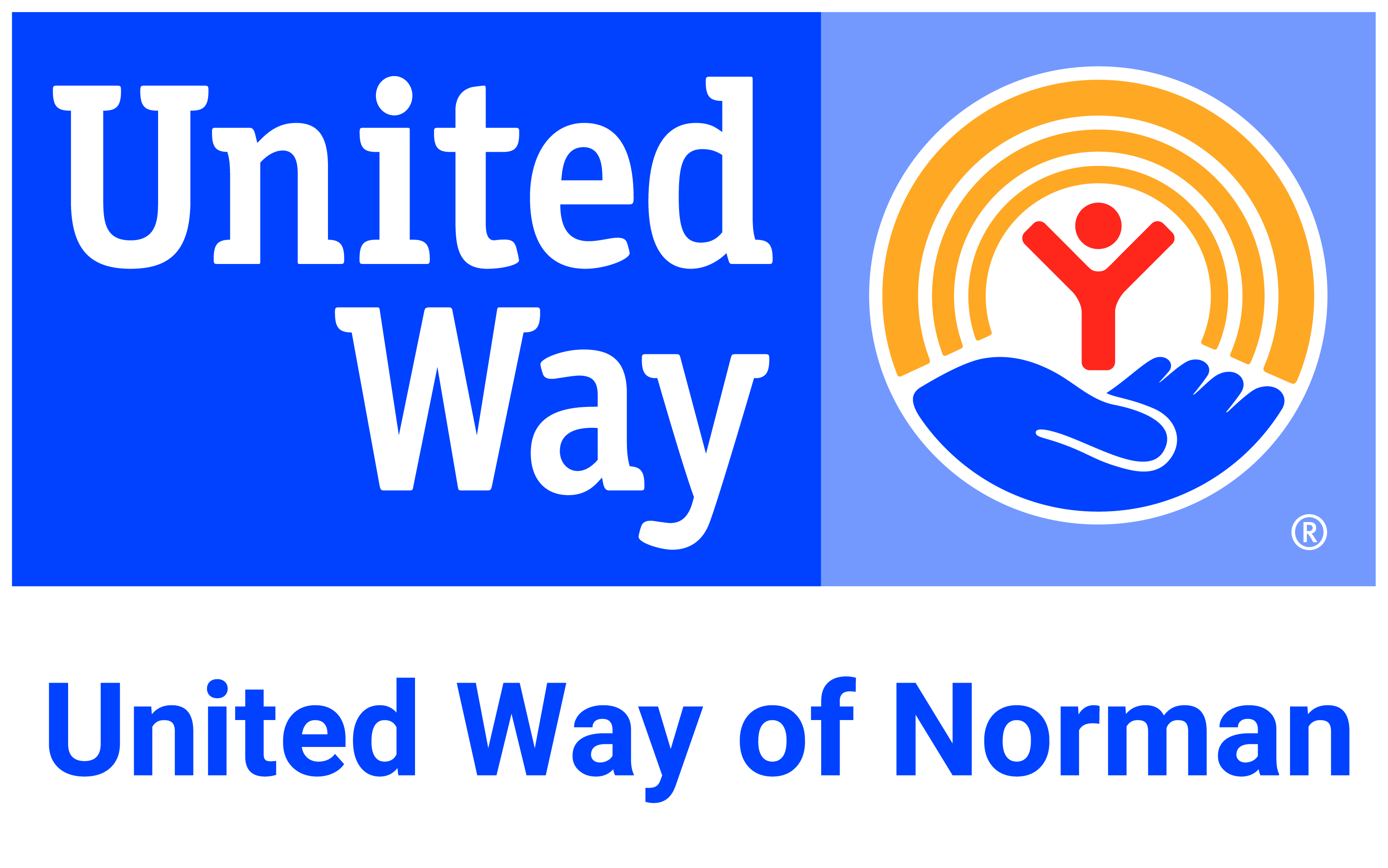 United Way of Norman color logo print